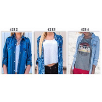 Camisa De Jean Primavera / Verano 2016 Hasta Xxl