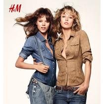 Divinas Camisas De Jean Y Gamuza Entalladas Importadas H&m