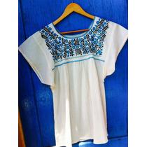 Blusa Mexicana Bordada De Algodón