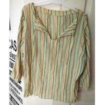 Camisa Blusa Tipo Hindú - Bambula - Mangas 3/4 - Xl