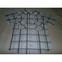 Exelente Camisa De Bambula Manga Corta Talle Small-impecable
