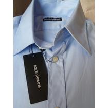 Camisa De Vestir Dolce Gabbana Made In Italia 44 17 1/2