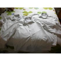Lote De 3 Camisas Blancas P/hombre Perdomo