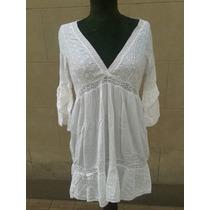 Blusa Tunica Blanca / Ropa Hindu (hecho En India)