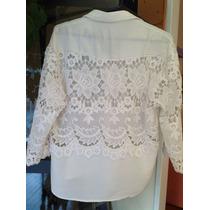 Camisa Aplique Espalda Y Mangas Espectacular!!!