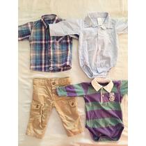 Lote 4 Prendas Bebe Cheeky Y Mini Mimo Camisas Body Pantalon