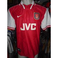Camiseta Fútbol Arsenal Inglaterra 1997 1998 Overmars #14 M