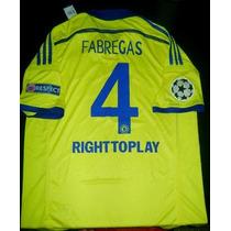 Camiseta Chelsea Suplente 2014-15 Fabregas Champions Parches