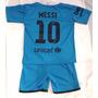Conjunto Barcelona Bebes Suplente Messi Camiseta Y Short!
