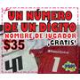 Estampado De Numero Con Nombre De Regalo Camisetas De Futbol