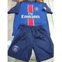 Nuevo 2016 Conjunto Camiseta Short Paris Psg Niños