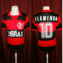 Vintage Camiseta Flamengo De Brasil #10 Lubrax
