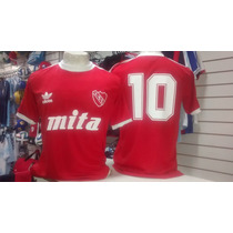 Camiseta Retro De Independiente Nº10 De Bochini Espectacular