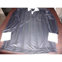 Camisetas Color Negro Cuello Volcado Blanco Manga Larga