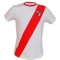 Remera Retro De River Plate - 100% Algodón