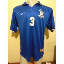 Camiseta Selección Italia Mundial Francia 98 1998 Maldini #3