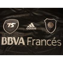 Camiseta Negra River Plate 75 Aniversario Monumental Adidas