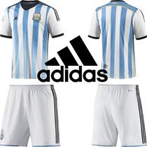 Camiseta Y Short Adulto Selección Argentina Adidas 2014
