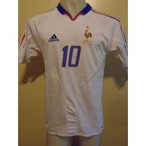 Camiseta Fútbol Selección Francia Euro 2004 Zidane #10 T. M
