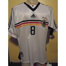 Camiseta Fútbol Alemania Mundial Francia 98 1998 Matthaus #8