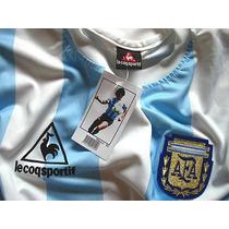 Camiseta Argentina 86 Maradona Campeon Mexico. La Mejor