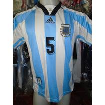 Camiseta Fútbol Argentina Mundial Francia 1998 98 Almeyda #5