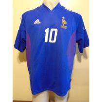 Camiseta Fútbol Francia Mundial Corea Japón 2002 Zidane #10