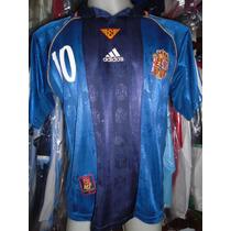 Camiseta Fútbol Selección España Mundial Francia 98 Raul #10