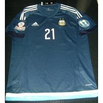 Camiseta Afa Argentina Suplente 2015 Pastore Copa America