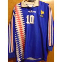 Camiseta Fútbol Selección Francia Adidas 1996 96 Zidane #10