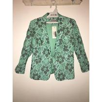Blazer / Saco De Vestir Color Verde, Talle S