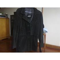 Saco De Gamuza - Color Negro - Talle 1