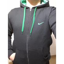 Camperas Nike Capucha Y Cierre Algodon Frizado Hombre Unisex