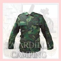 Chaqueta - Camisola Militar Tactica Camuflada Woodland Selva