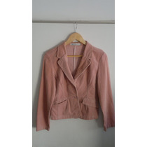 Blazer De Gamuza Color Rosa Talle 2