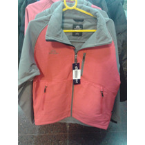 Campera * Athix * Cloud Softshell Termica Gris/rosa Unisex
