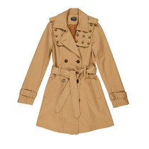 Trench De Gabardina Mujer Paris By Flor Monis