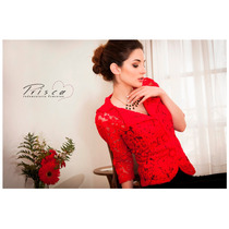 Blaizer De Encaje - Color Rojo Y Negro - Envío Incluido