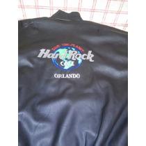 Campera De Hombre De Cuero Ecológico Hard Rock Cafe Orlando