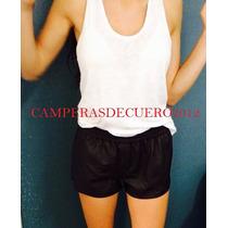 Shorts De Cuero 100% Varios Colores Directo Fabrica
