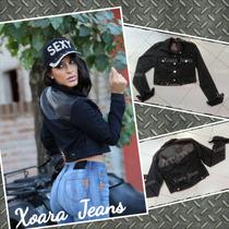 Campera Gabardina Mujer Comb Ecocuero Espalda - Xoara Jeans