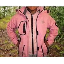 Campera Softshell Neoprene Outdoor Color Rosa, Mujer Nueva.