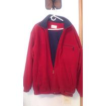 Buzo Cardigan Polar Rojo Hombre T L