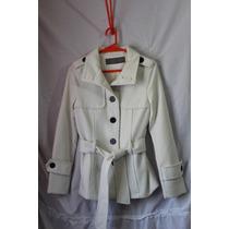 Tapado Zara, Talle S, Color Blanco.
