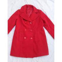 Tapado Sacon Paño Rojo Mujer Nuevo Forrado Talle S