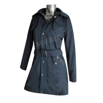 Piloto Trench Impermeable Azul Oscuro Talle L (40)