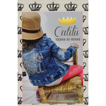 Campera Nevada Jeans Nena Princesa Transfer Talle 6 Al 14