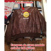 Campera De Cuero Hard Rock New York