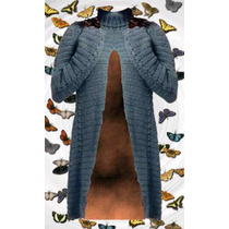 Tapado Sweater Capa Tejido Crochet Colores Y Talles