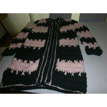 Hermoso Sacón De Lana Al Crochet